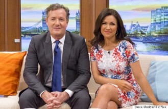EDITORIAL USE ONLY. NO MERCHANDISING Mandatory Credit: Photo by S Meddle/ITV/REX Shutterstock (4657125k) Piers Morgan and Susanna Reid 'Good Morning Britain' TV Programme, London, Britain. - 14 Apr 2015